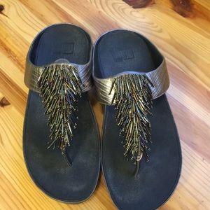 Fitflop Cha Cha Wedge Sandal Bronze Ore